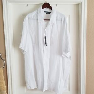Perry Ellis Short Sleeve White Shirt